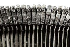 Конец-вверх винтажных ключей письма & символа машинки Стоковые Изображения RF