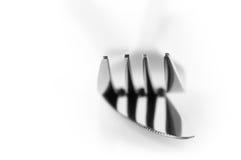 Конец-вверх вилки и ножа Стоковые Фото