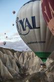 Конец-вверх воздушного шара летания Стоковая Фотография RF