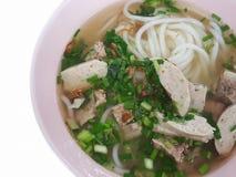 Конец-вверх, въетнамский традиционный стиль еды: Рис запасных нервюр свинины Стоковые Фотографии RF