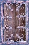 Конец-вверх выкованного элемента, винтажной загородки Стоковое Изображение RF