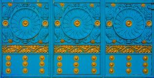 Конец-вверх выкованного элемента, винтажной загородки Стоковая Фотография