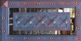 Конец-вверх выкованного элемента, винтажной загородки Стоковые Изображения RF