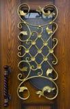Конец-вверх выкованного элемента, винтажной загородки Стоковые Изображения
