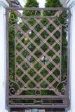 Конец-вверх выкованного элемента, винтажной загородки Стоковое Фото