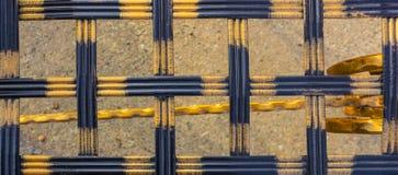 Конец-вверх выкованного элемента, винтажной загородки Стоковая Фотография RF