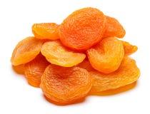 Конец-вверх высушенного абрикоса изолированный на белой предпосылке Стоковое Фото