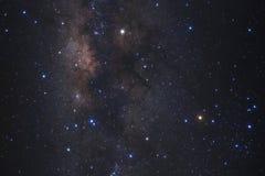 Конец-вверх галактики млечного пути с звездами и космос пылятся стоковое фото rf