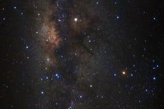 Конец-вверх галактики млечного пути с звездами и космос пылятся стоковая фотография rf