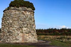 Конец-вверх гигантской пирамиды из камней на Culloden причаливает Стоковые Изображения