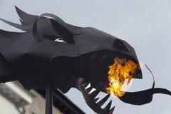 Конец-вверх головы дракона Стоковая Фотография