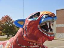 Конец-Вверх головы статуи тигра Стоковое Фото