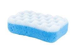Конец-вверх голубой губки ванны Стоковые Изображения