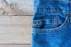 Конец вверх голубых джинсов Стоковое Фото