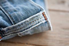 Конец вверх голубых джинсов Стоковое фото RF
