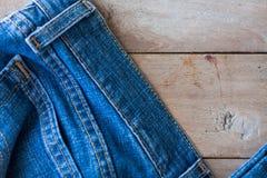 Конец вверх голубых джинсов Стоковые Фотографии RF