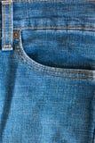 Конец вверх голубых джинсов Стоковые Фото