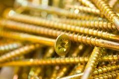 Винты золота стоковые фото