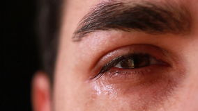 Конец-вверх глаза молодого человека видеоматериал