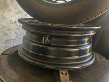 Конец-вверх датчика давления колеса автомобиля Стоковое Изображение