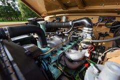 Конец-вверх двигателя автомобиля Стоковые Изображения RF