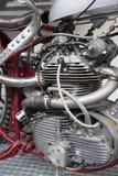 Конец-вверх двигателя мотоцикла Стоковые Изображения