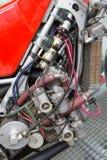 Конец-вверх двигателя мотоцикла Стоковое Изображение