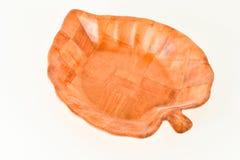 Конец-вверх деревянных лист корзины Стоковая Фотография