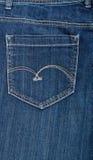 Конец-вверх джинсыов карманный Стоковое Фото