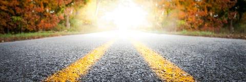 Проселочная дорога в осени стоковые фото