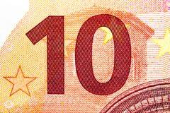 Конец-вверх денег евро Стоковые Изображения RF