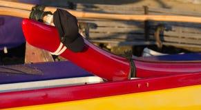 Конец-вверх деталей такелажирования каное на пляже Kaunaoa Стоковое Изображение RF
