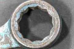 Конец-вверх железного кольца ключа Стоковое Фото