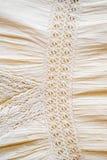 Конец вверх женской linen текстуры предпосылки платья Стоковое Фото
