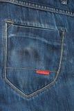 Конец-вверх джинсовой ткани голубых джинсов Стоковое фото RF