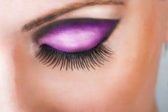 Конец-вверх закрытого красивого глаза Стоковые Фотографии RF