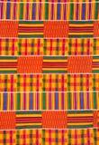 Конец-Вверх западно-африканской ткани Kente стоковое изображение rf