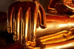 Конец-вверх золота головы Будды Стоковая Фотография