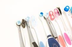 Конец-вверх зубной щетки Стоковая Фотография