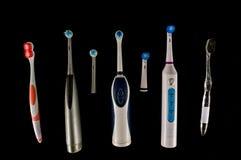 Конец-вверх зубной щетки Стоковые Изображения RF