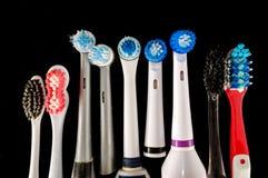 Конец-вверх зубной щетки Стоковые Фото