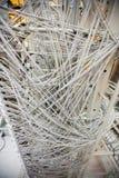 Конец-вверх кабелей и проводов в шкафчике сервера Стоковая Фотография RF