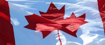 Конец-вверх канадский развевать флага стоковые изображения rf