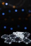 Конец-вверх карточек и обломоков Стоковые Фотографии RF
