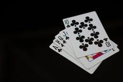 Конец-вверх карточек клубов Стоковая Фотография RF