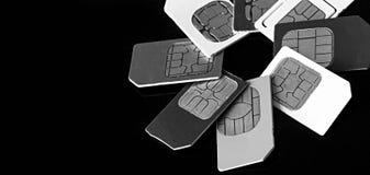 Конец-вверх карточки Sim Стоковые Изображения