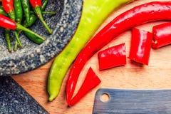 Конец-вверх кашевара Chili различный Стоковое Изображение