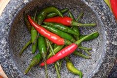 Конец-вверх кашевара Chili различный Стоковая Фотография