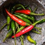 Конец-вверх кашевара Chili различный Стоковое Фото