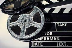 Конец-вверх кино, металла или пластмассы хлопа Стоковые Фотографии RF